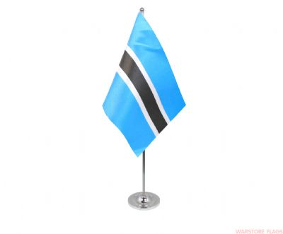 BOTSWANA - DELUXE SATIN TABLE FLAG